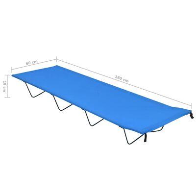 vidaXL Campingbedden 2 st 180x60x19 cm oxford stof en staal blauw