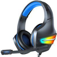 Gaming Koptelefoon Rgb 3,5 Mm Met Microfoon Zwart / Blauw