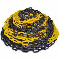 vidaXL Veiligheidsketting 30 m kunststof geel en zwart