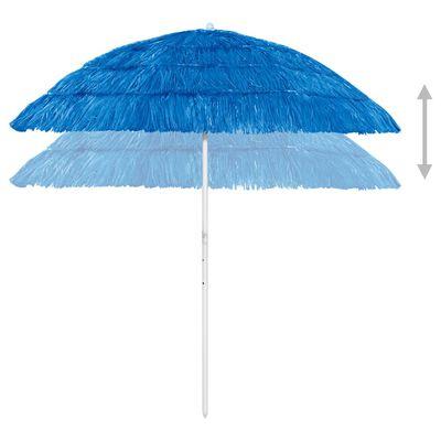 vidaXL Strandparasol 240 cm blauw