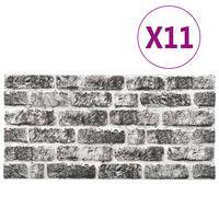 vidaXL 11 st Wandpanelen 3D donkergrijze baksteen EPS