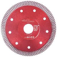 vidaXL Diamantzaagblad met gaten 125 mm staal