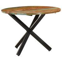vidaXL Eettafel rond 100x100x75 cm massief gerecycled hout