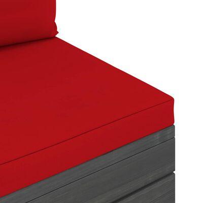 vidaXL 9-delige Loungeset pallet met kussens massief grenenhout