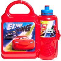lunchset Cars Extreme Racing broodtrommel & beker rood