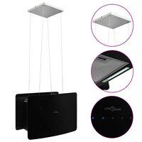 vidaXL Afzuigkap hangend met aanraaksensor LCD gehard glas