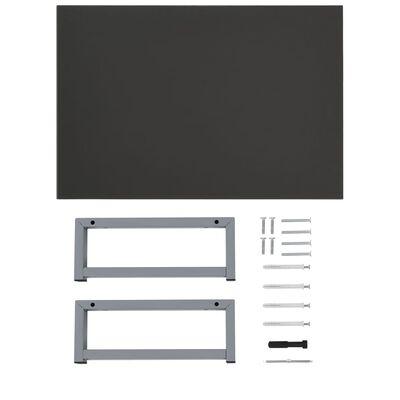 vidaXL 2-delige Badkamermeubelset keramiek grijs