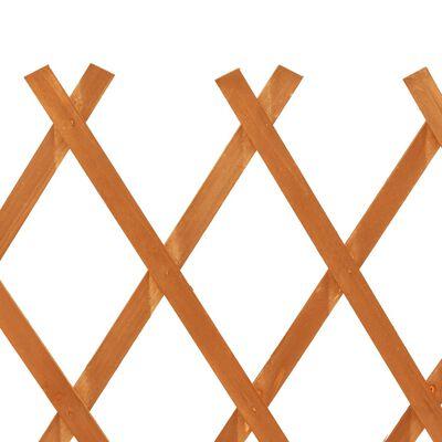 vidaXL Tuinlatwerk 120x90 cm massief vurenhout oranje
