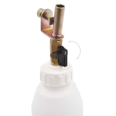 vidaXL Remontluchtingspomp pneumatisch met vulfles 3,5 L
