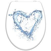 SCHÜTTE Toiletbril met soft-close BLUE HEART duroplast wit