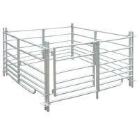 vidaXL Schaapskooi 4 panelen 137x137x92 cm gegalvaniseerd staal