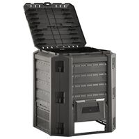 vidaXL Compostbak 380 L zwart