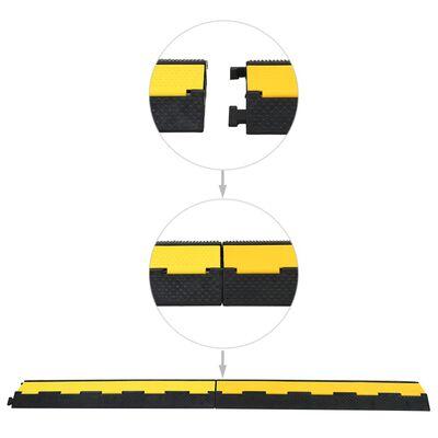 vidaXL Kabelbeschermer drempels 2 tunnels 101,5 cm rubber 4 st
