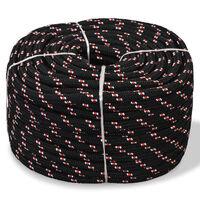 vidaXL Boot touw 16 mm 50 m polypropyleen zwart