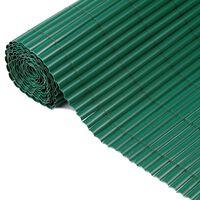 Nature Tuinscherm enkelzijdig 1x3 m PVC groen