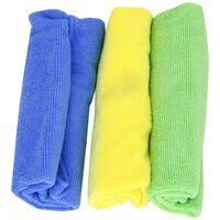 Mr. Kleen poetsdoeken 40 x 45 cm microvezel blauw/geel/groen 3 st
