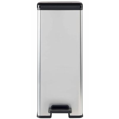 Curver Pedaalemmer Deco slank 40 L zilver 240640