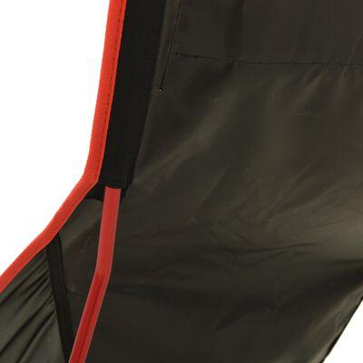 vidaXL Campingstoel inklapbaar PVC en aluminium zwart