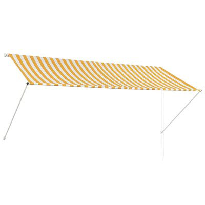 vidaXL Luifel uittrekbaar 300x150 cm geel en wit