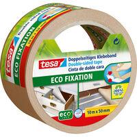 1x Tesa dubbelzijdig tapijttape wit op rol 10 meter - Klusmateriaal -