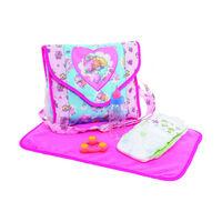 luiertas met accessoires 24 x 24 cm polyester roze