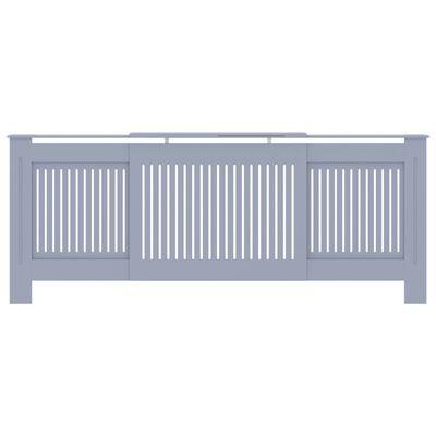 vidaXL Radiatorombouw 205 cm MDF grijs