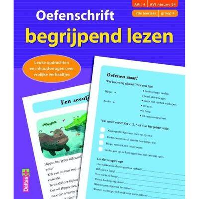 Deltas leren lezen Oefenschrift begrijpend lezen Avi:4/E4 23 cm