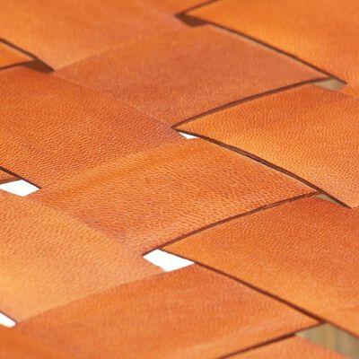vidaXL Barkrukken 2 st 60 cm echt leer bruin