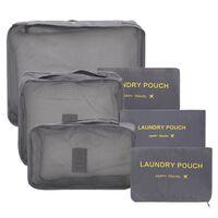 6-delige Reisverpakkingskubussenset grijs