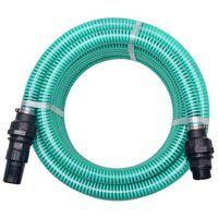vidaXL Zuigslang met koppelingen 10 m 22 mm groen