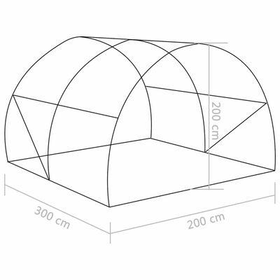 vidaXL Kas 6 m² 3x2x2 m