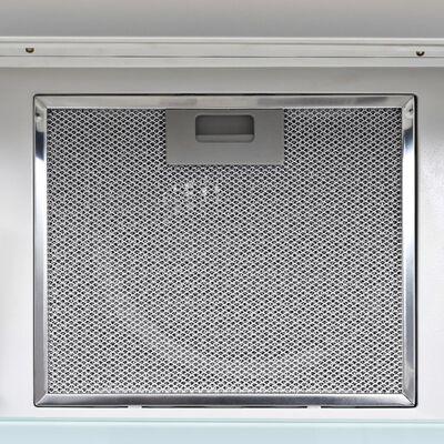 vidaXL Wandafzuigkap 756 m³/u 60 cm roestvrij staal wit