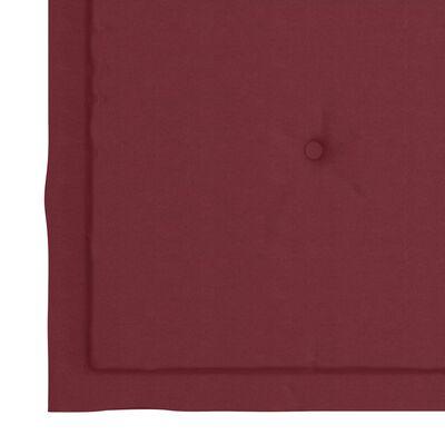vidaXL Tuinstoelkussens 4 st 40x40x4 cm stof wijnrood