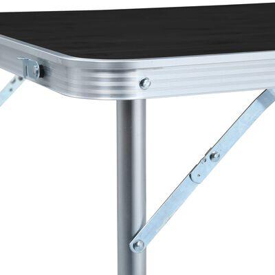 vidaXL Campingtafel inklapbaar 120x60 cm aluminium grijs