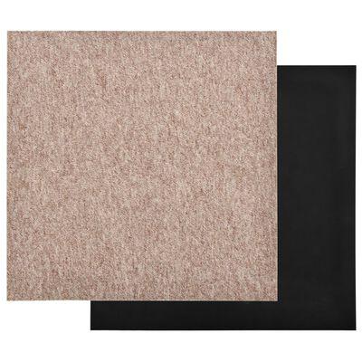 vidaXL Tapijttegels 20 st 5 m² 50x50 cm beige