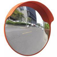vidaXL Verkeersspiegel voor buiten 45 cm PC-kunststof oranje