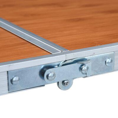 vidaXL Campingtafel inklapbaar 120x60 cm aluminium