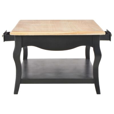vidaXL Salontafel 110x60x40 cm MDF zwart