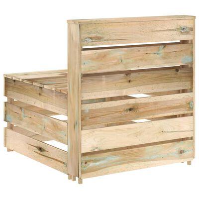 vidaXL 7-delige Loungeset groen geïmpregneerd grenenhout