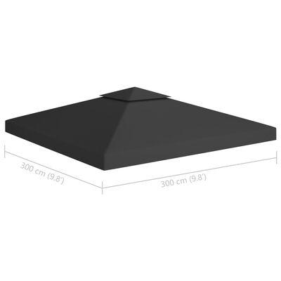 vidaXL Prieeldak 2-laags 310 g/m² 3x3 m zwart