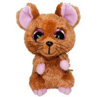 Lumo Stars knuffel Lumo Mouse Mus bruin 15 cm