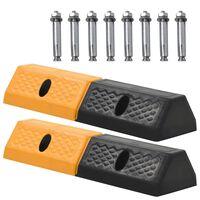 vidaXL Parkeerblokken 49x15x9 cm rubber 2 st