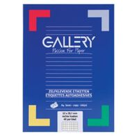 Gallery witte etiketten ft 52,5 x 29,7 mm (b x h), rechte hoeken, d...