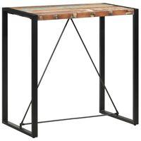 vidaXL Bartafel 110x60x110 cm massief gerecycled hout