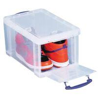 Really Useful Box 14 liter met opening aan de voorkant, transparant
