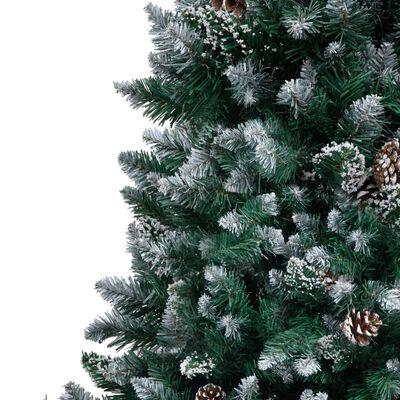 vidaXL Kunstkerstboom met dennenappels en witte sneeuw 240 cm,