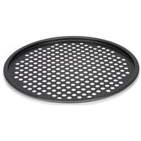 pizzavorm geperforeerd 32,5 x 1,5 cm staal donkergrijs