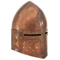 vidaXL Ridderhelm middeleeuws replica LARP staal koperkleurig