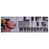 vidaXL Wandprintset wonderful 120x40 cm canvas meerkleurig