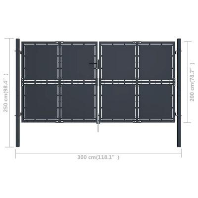 vidaXL Poort 300x200 cm staal antraciet